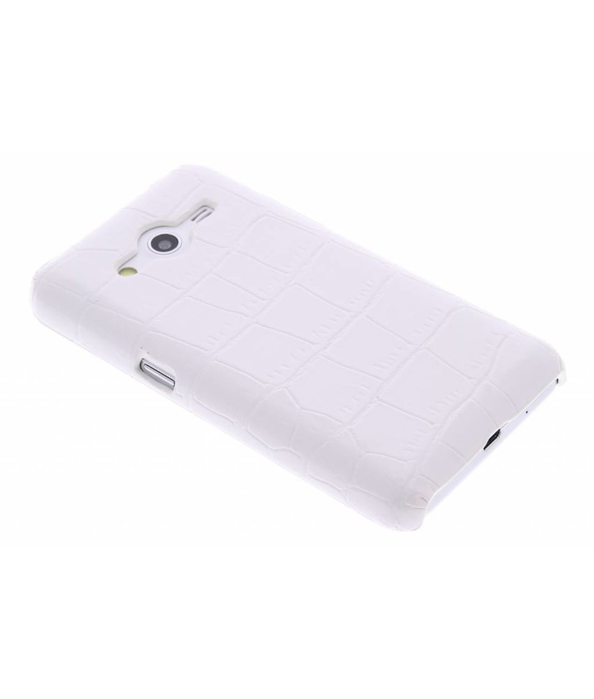 Wit krokodil design hardcase hoesje Samsung Galaxy Core 2