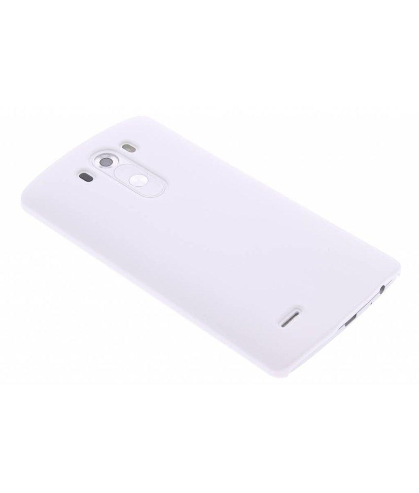 Wit effen hardcase hoesje LG G3