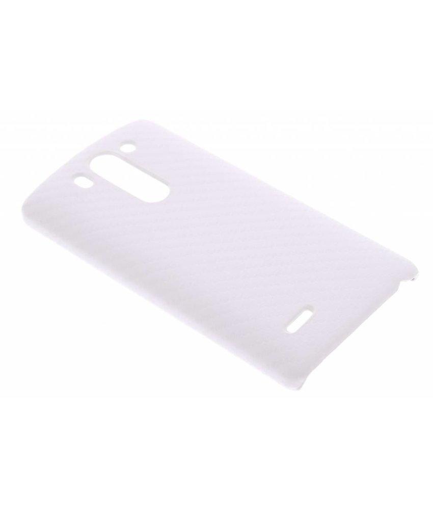 Wit carbon look hardcase hoesje LG G3 S