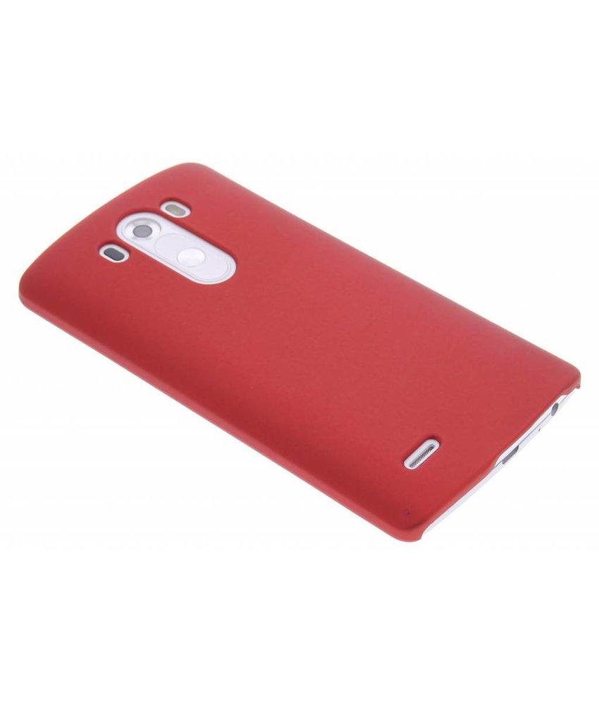 Rood effen hardcase hoesje LG G3