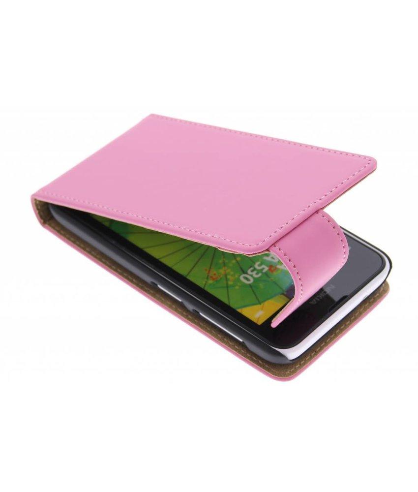Roze classic flipcase Nokia Lumia 530