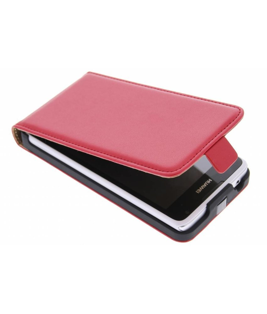Rood luxe flipcase Huawei Ascend Y530