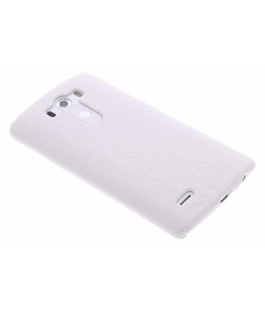 Wit krokodil design hardcase hoesje LG G3