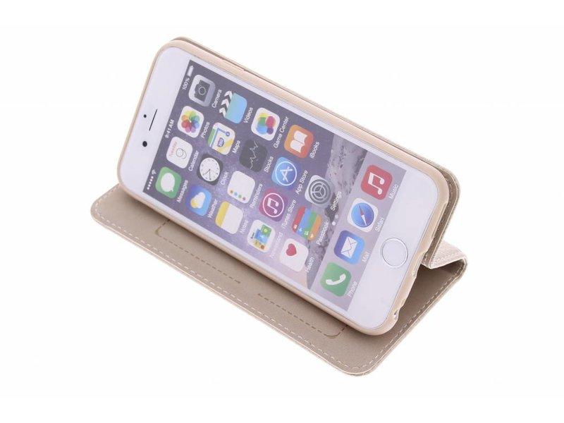 iPhone 6 / 6s hoesje - Goudkleurige premium TPU booktype