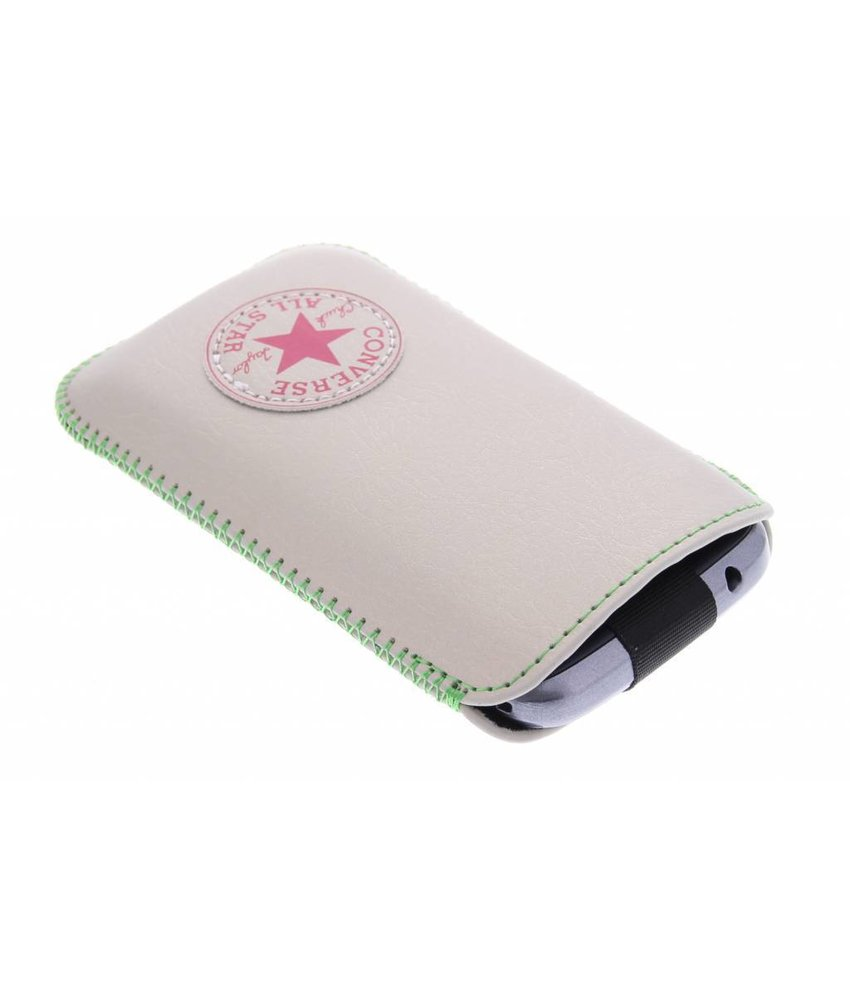 Converse Pouch Silver Neon maat L