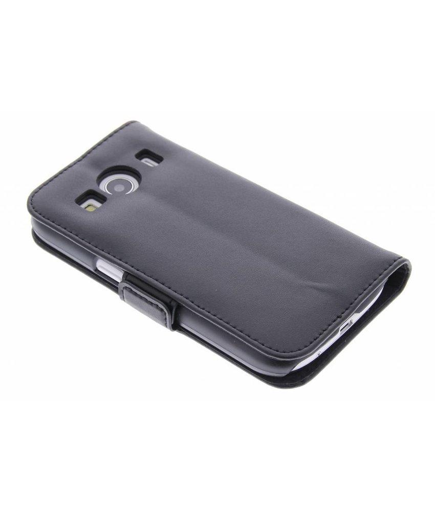 Zwart luxe booktype hoes Samsung Galaxy Ace 4