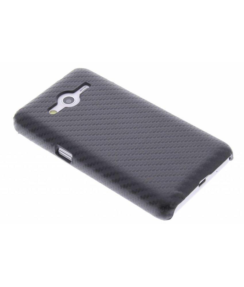 Zwart carbon look hardcase Samsung Galaxy Core 2