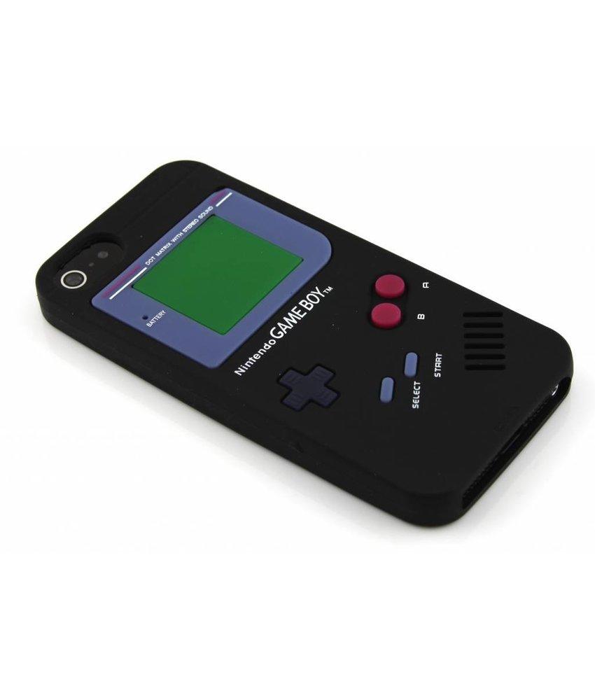 Zwart gameboy siliconen hoesje iPhone 5 / 5s / SE