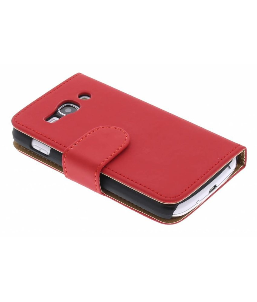 Rood effen booktype hoes Samsung Galaxy Ace 3