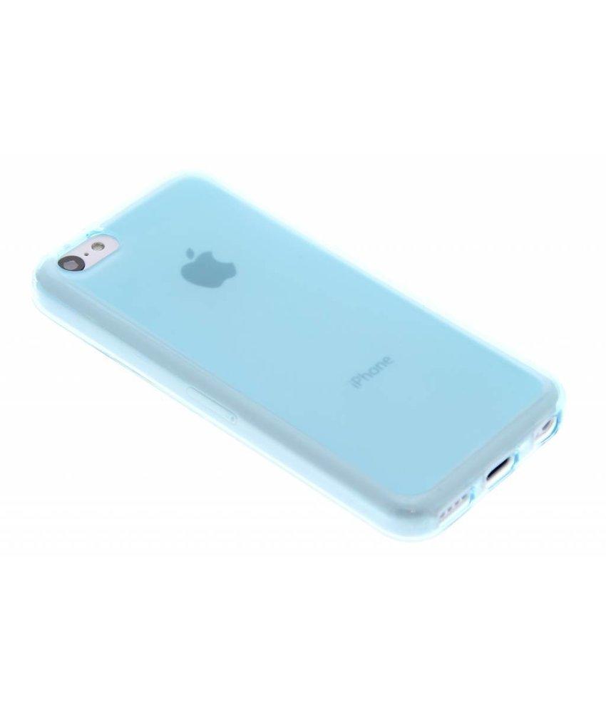 Turquoise hard siliconen hoesje iPhone 5c