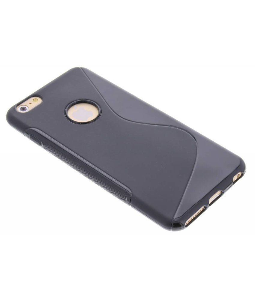 Zwart S-line TPU hoesje iPhone 6(s) Plus