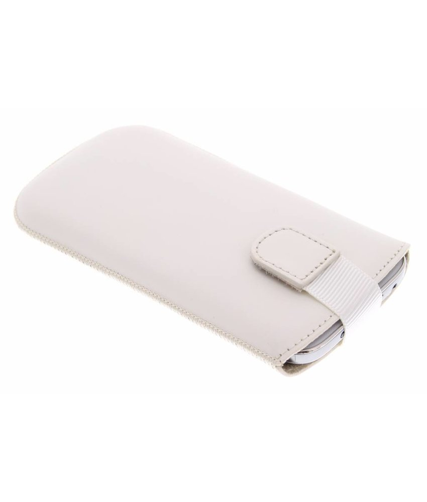 Mobiparts Premium Pouch maat XL - wit