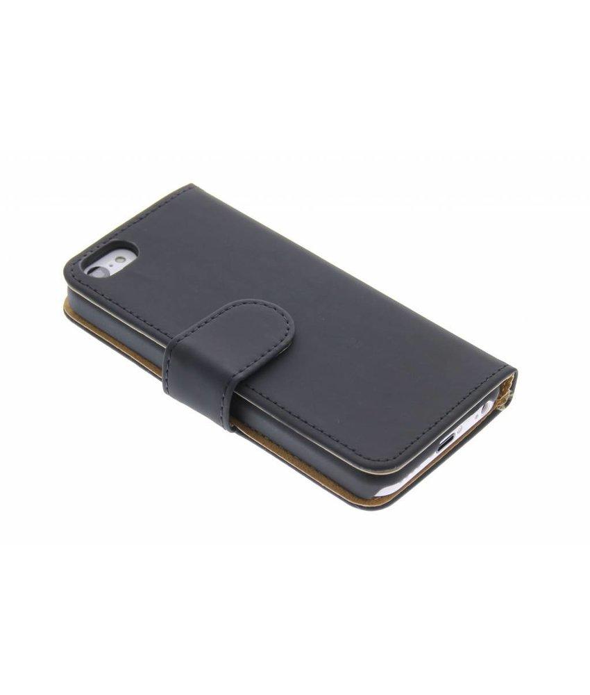Zwart effen booktype hoes iPhone 5c