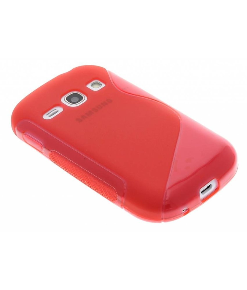 Rood S-line TPU hoesje Samsung Galaxy Fame