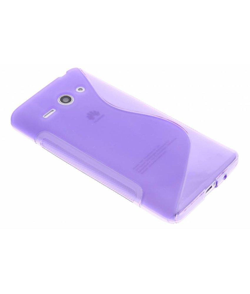 Paars S-line TPU hoesje Huawei Ascend Y530