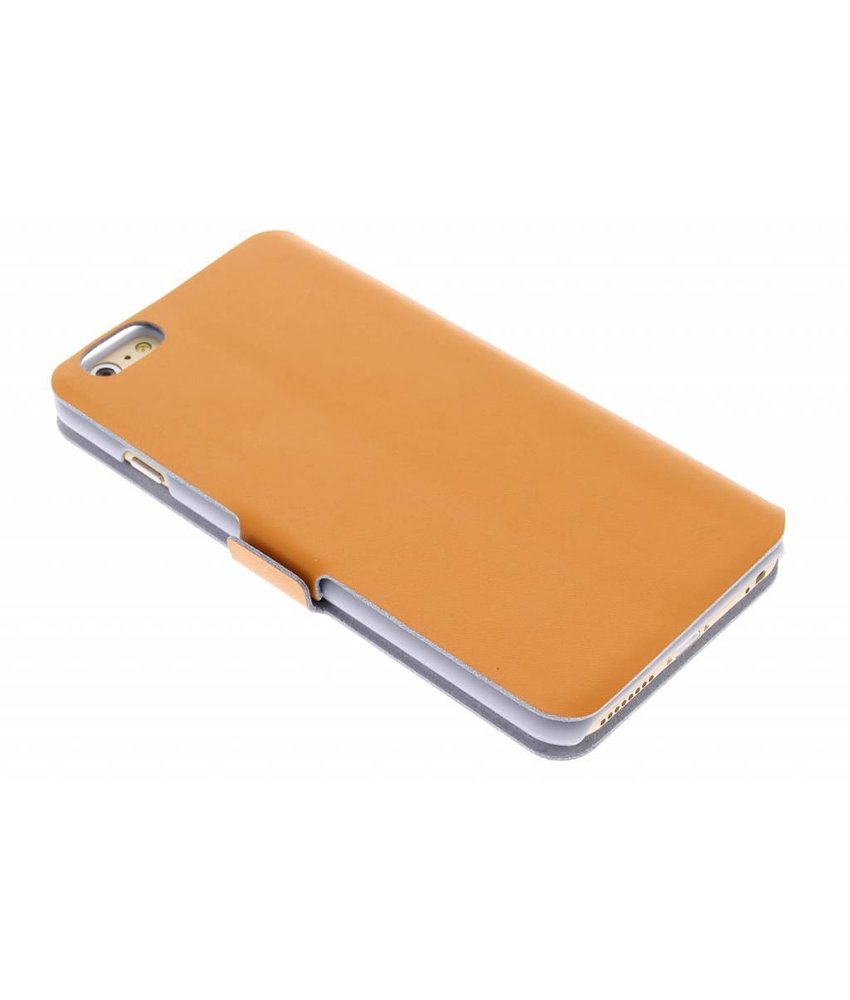 Oranje luxe booktype hoes iPhone 6(s) Plus