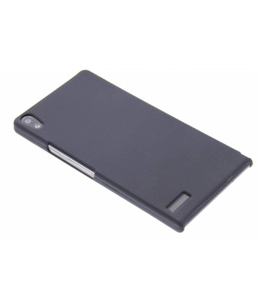 Zwart effen hardcase hoesje Huawei Ascend P6 / P6s