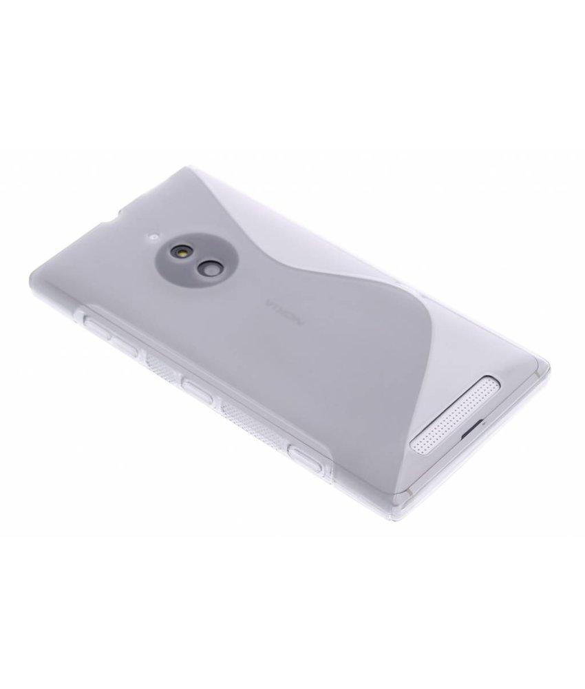 Grijs S-line TPU hoesje Nokia Lumia 830
