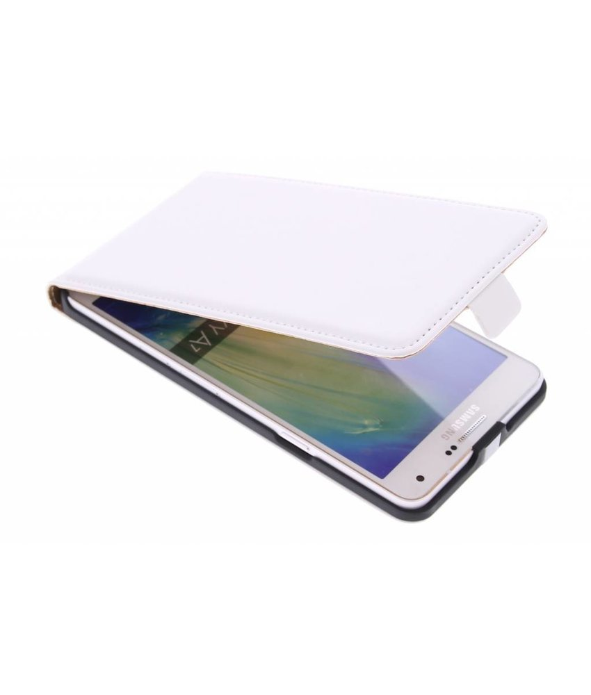 Wit luxe flipcase Samsung Galaxy A7