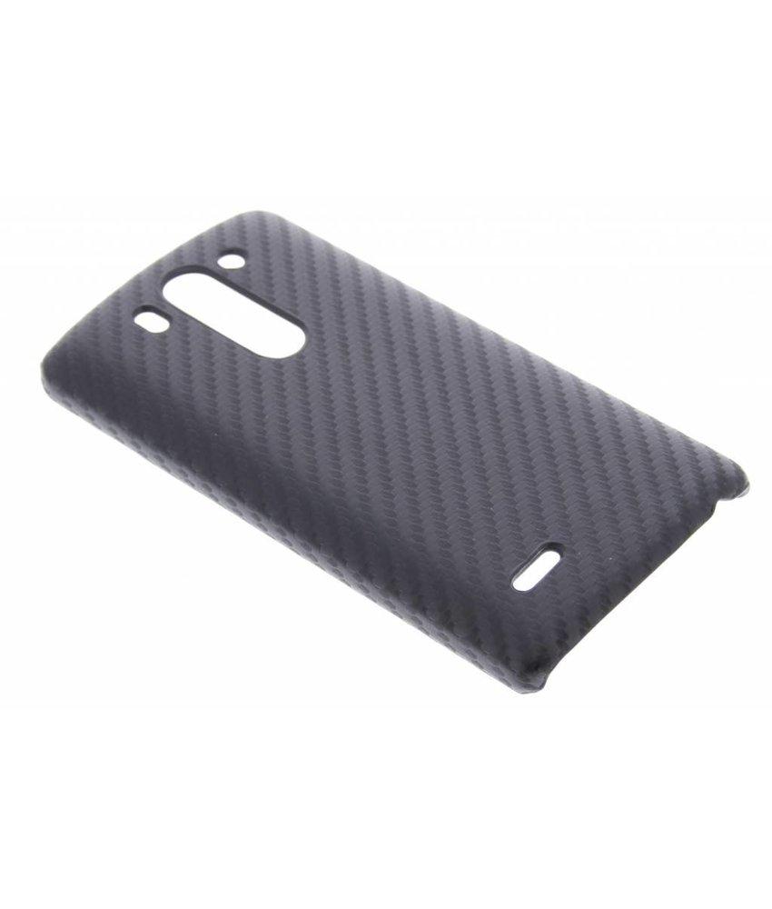 Zwart carbon look hardcase hoesje LG G3 S