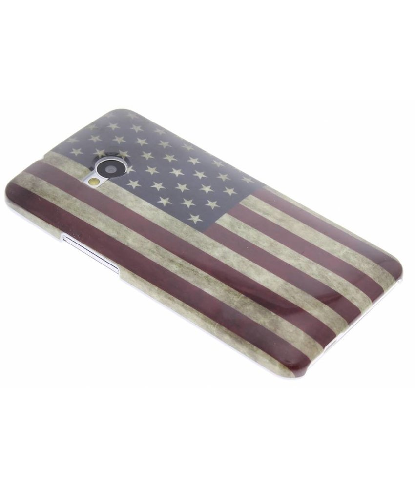 USA vlag design glad hardcase hoesje HTC One