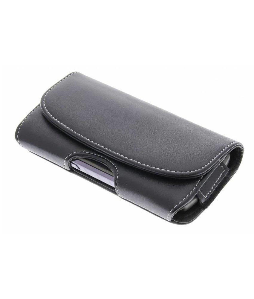Zwart broekriem telefoonhoesje (groot)