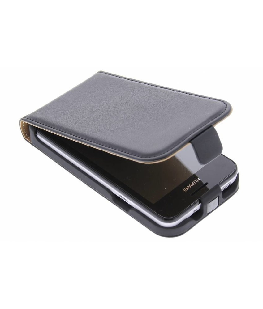 Zwart luxe flipcase Huawei Ascend Y330
