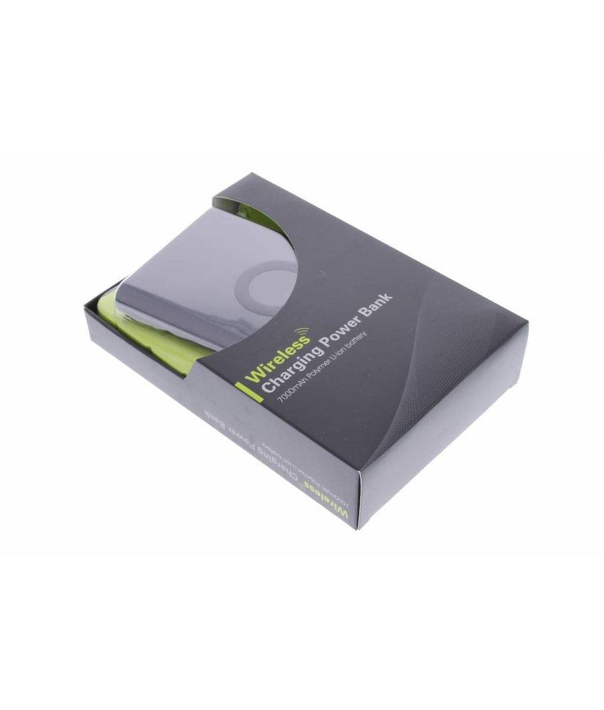 Wireless QI Powerbank 7000 mAh - zwart