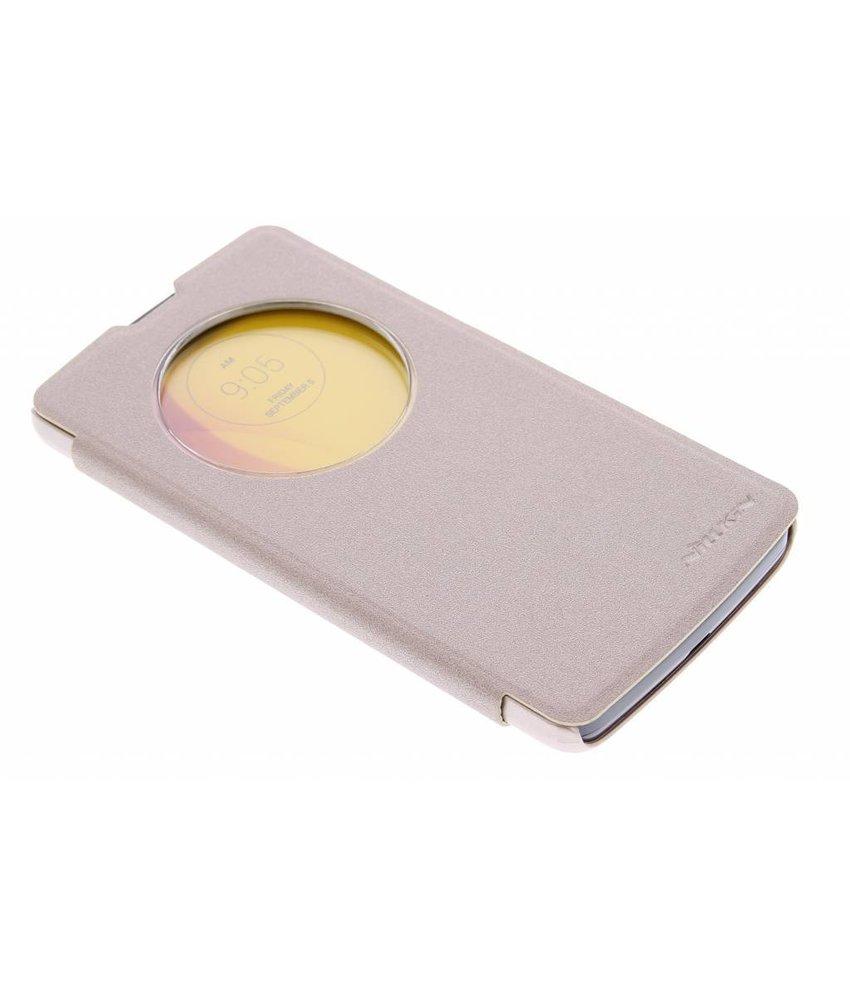 Nillkin Sparkle slim booktype hoes LG L Bello / L80 Plus - Goud