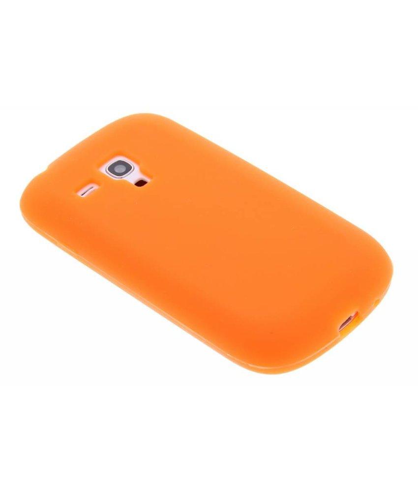 Oranje siliconen hoesje Samsung Galaxy S3 Mini