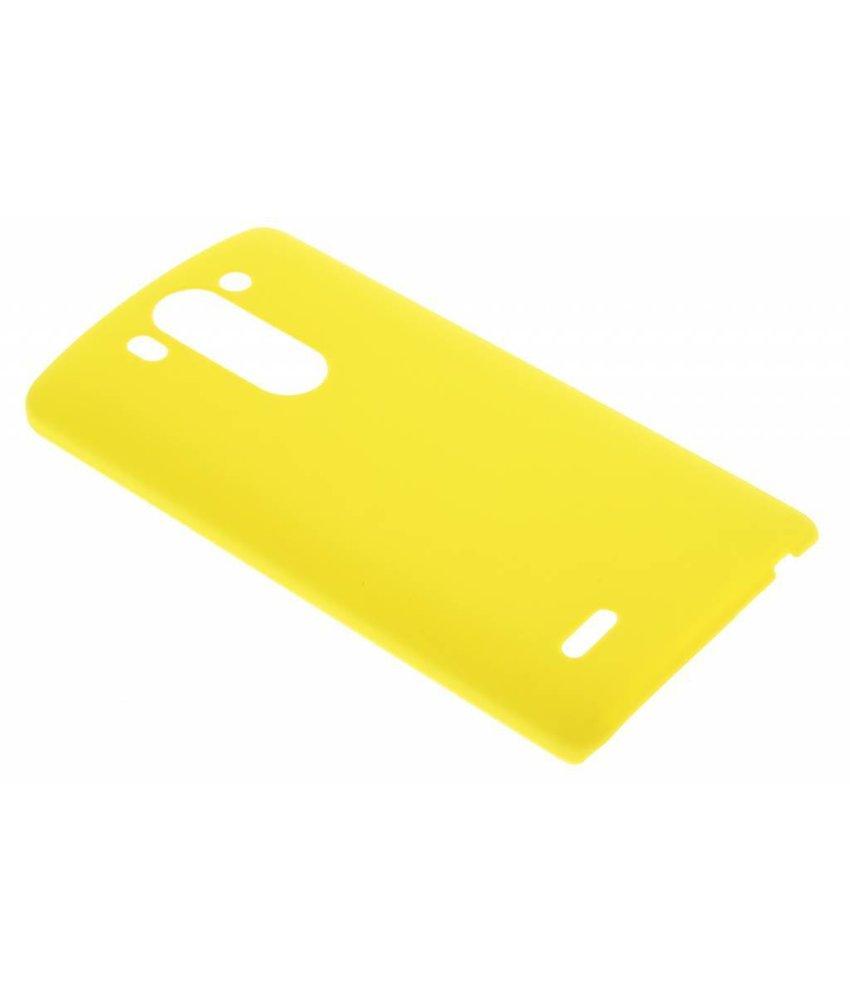 Geel effen hardcase hoesje LG G3 S