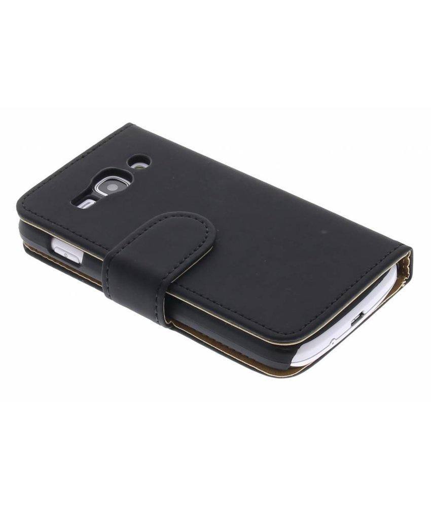 Zwart effen booktype hoes Samsung Galaxy Ace 3