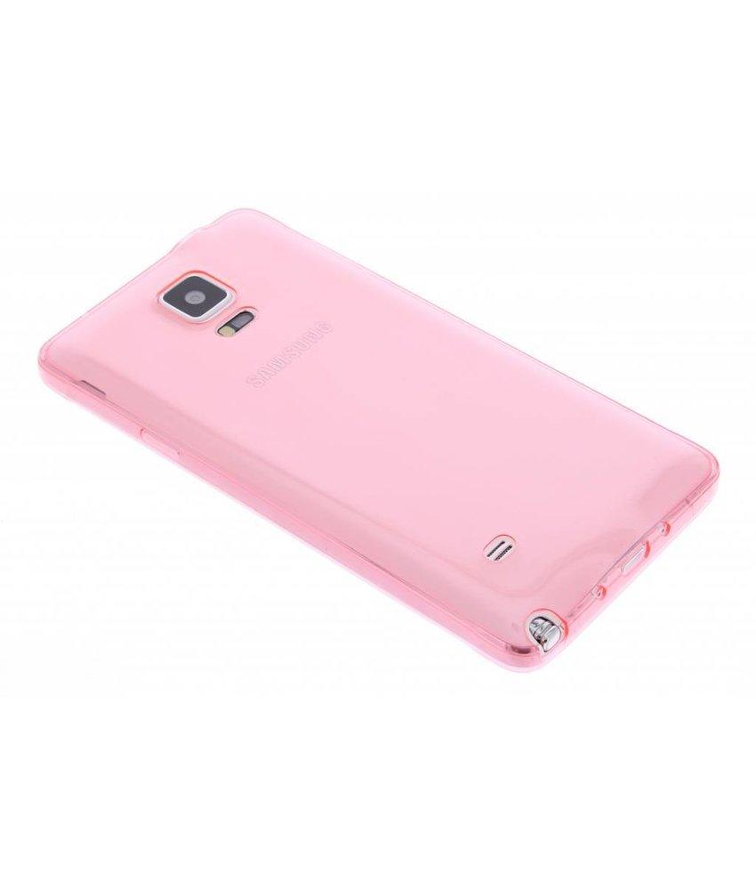 Roze ultra thin TPU hoesje Samsung Galaxy Note 4