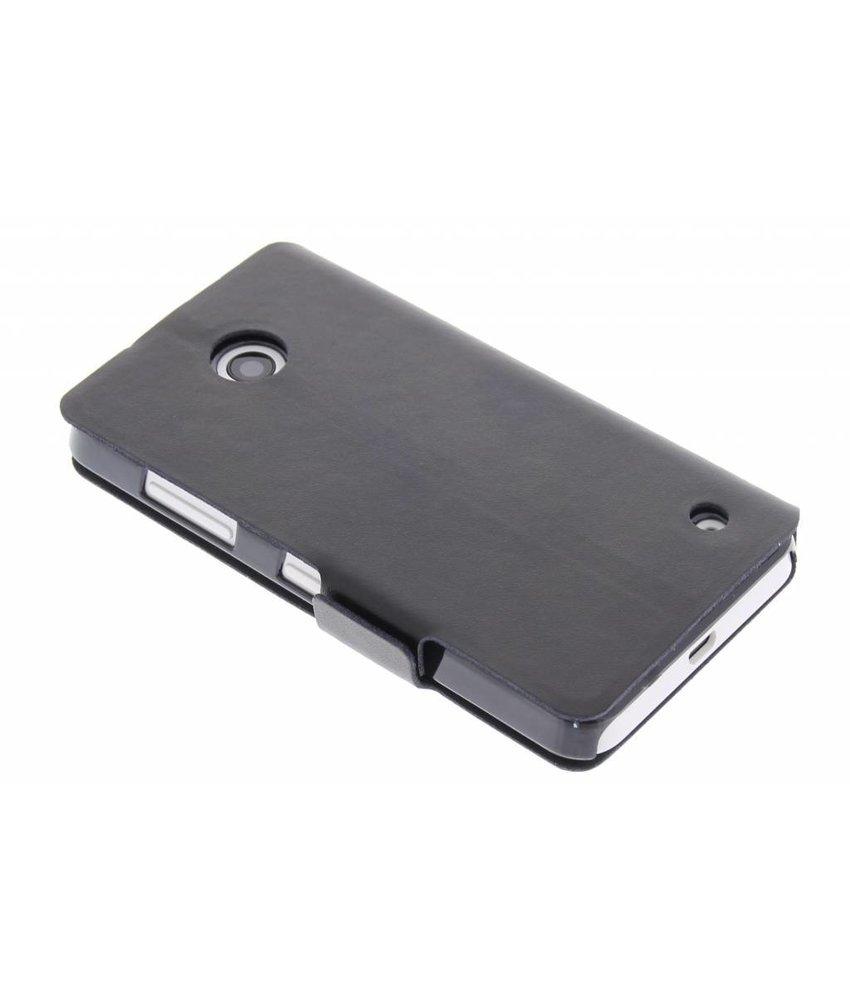 Zwart luxe booktype hoes Nokia Lumia 630 / 635