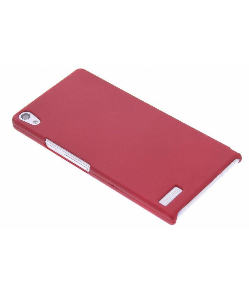 Rood effen hardcase hoesje Huawei Ascend P6 / P6s