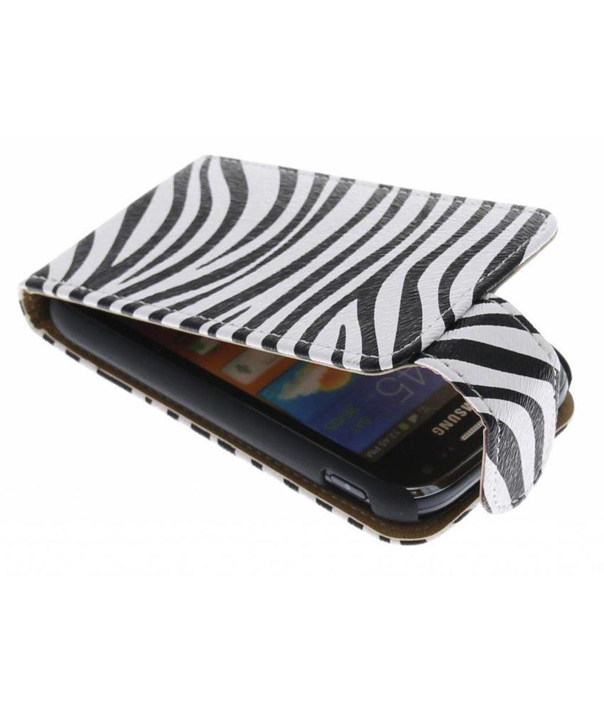 Zebra flipcase Samsung Galaxy Ace 2