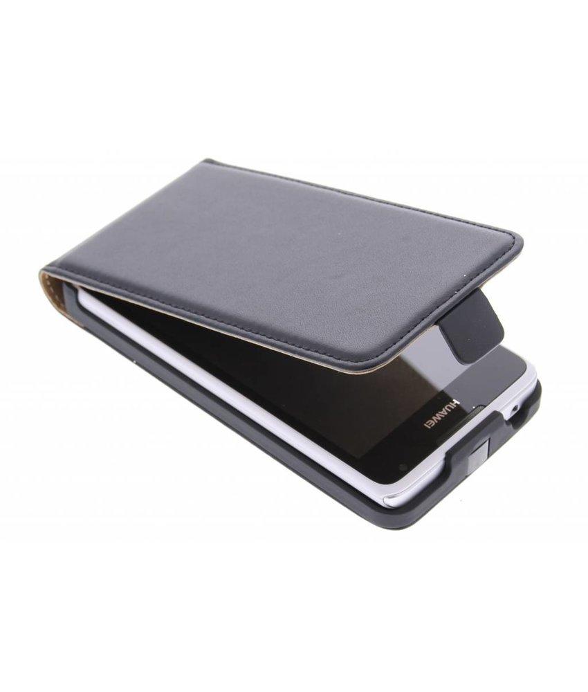 Zwart luxe flipcase Huawei Ascend Y530