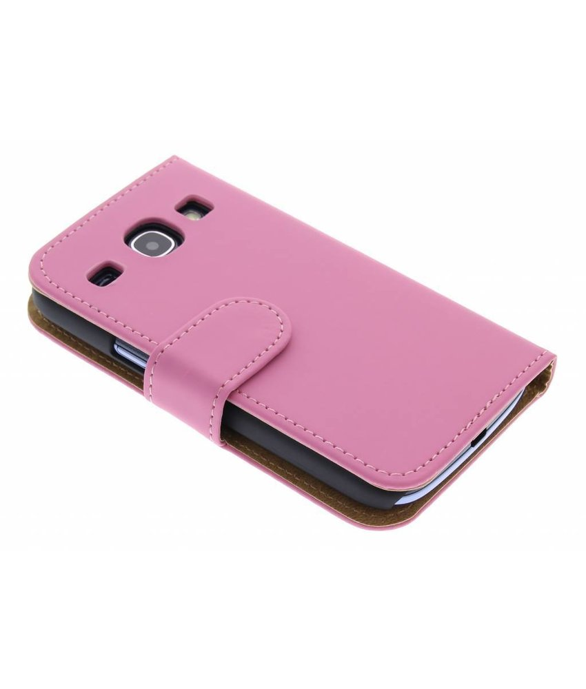 Roze effen booktype Samsung Galaxy Core
