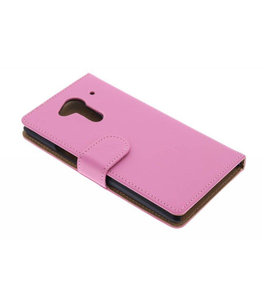 Roze effen booktype hoes Acer Liquid Z5