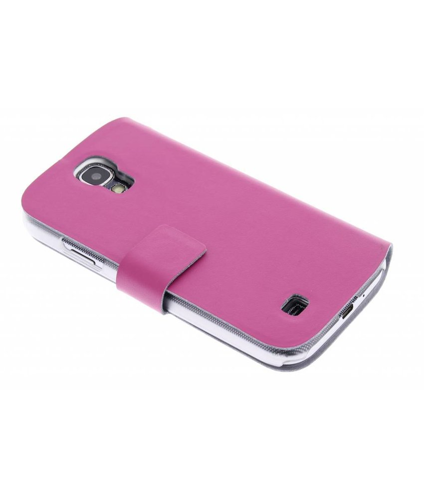 Fuchsia stijlvolle booktype hoes Samsung Galaxy S4
