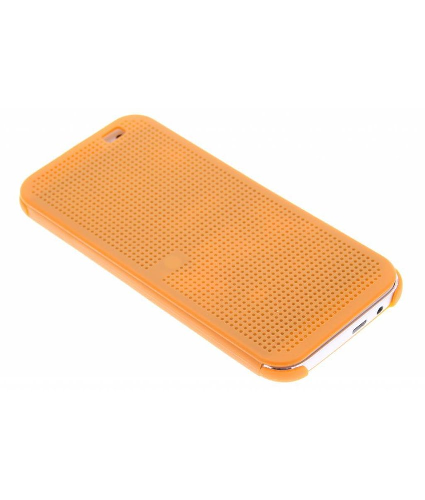 Oranje Dot-Cover hoes HTC One M8 / M8s