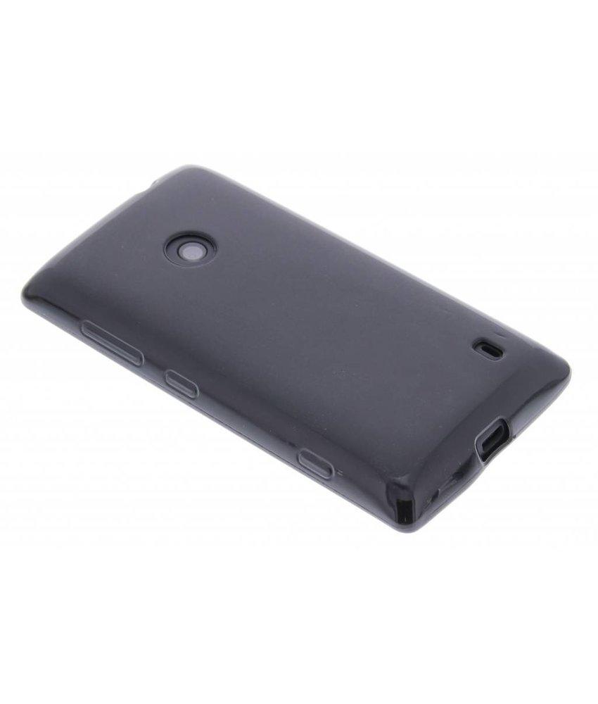 Zwart hard siliconen hoesje Nokia Lumia 520 / 525