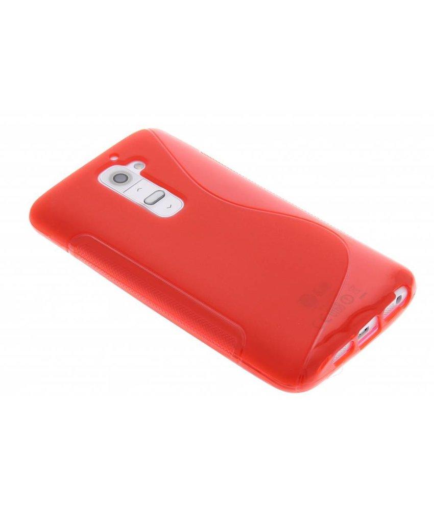 Rood S-line TPU hoesje LG G2