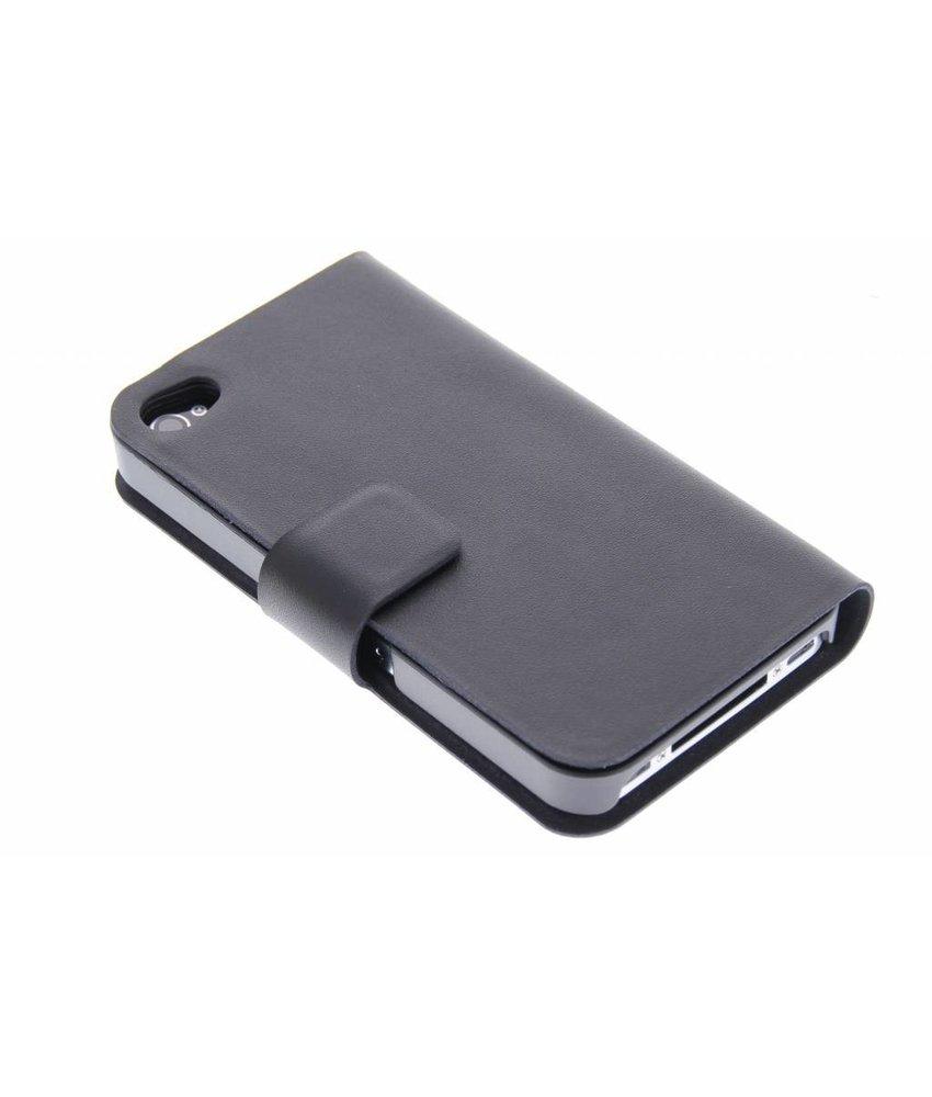 Zwart stijlvolle booktype hoes iPhone 4 / 4s
