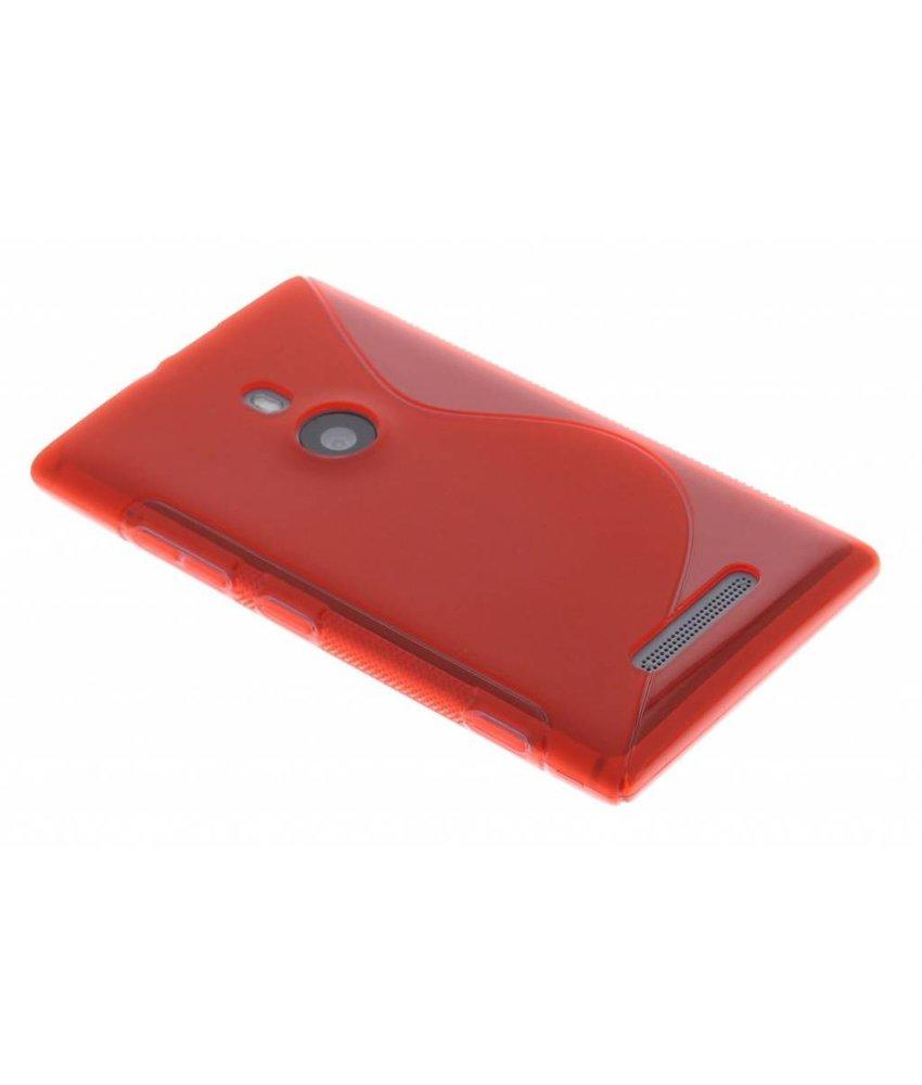 Rood S-line TPU hoesje Nokia Lumia 925