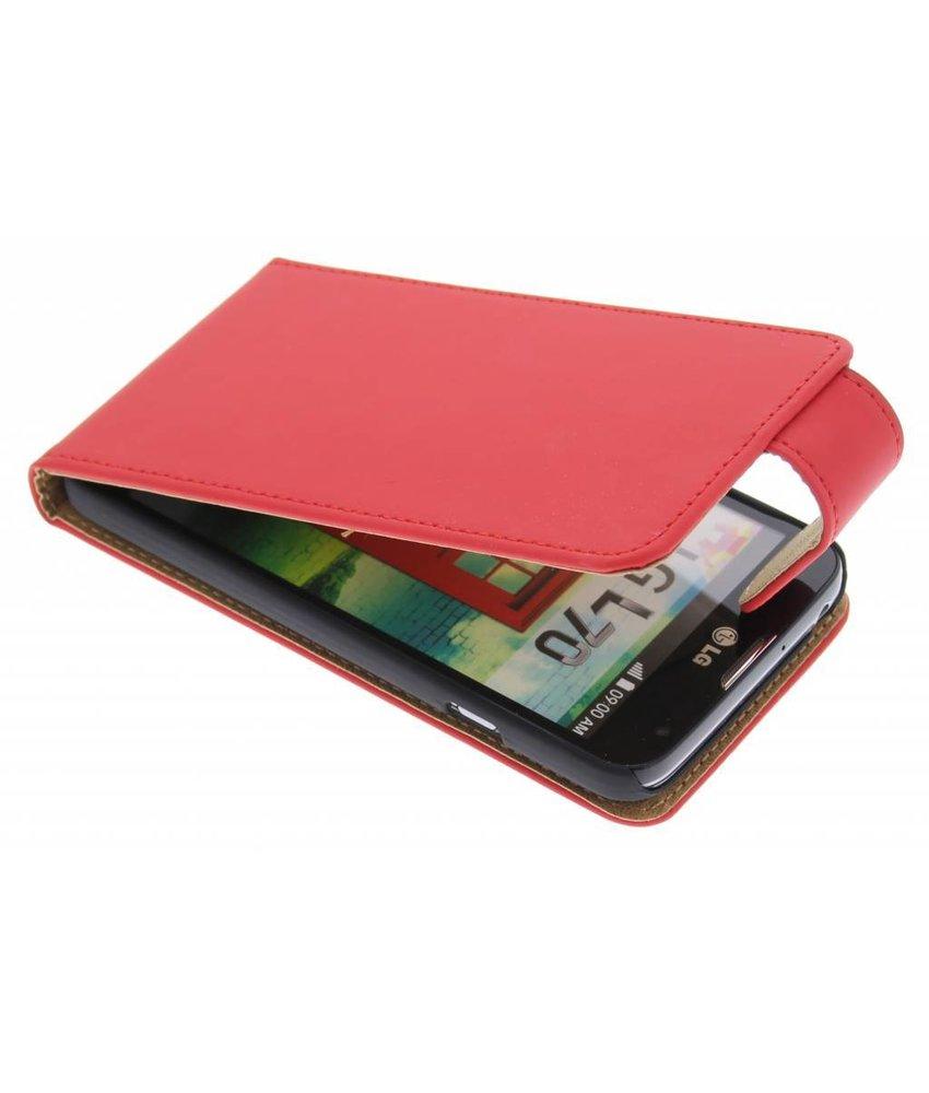 Rood classic flipcase LG L70
