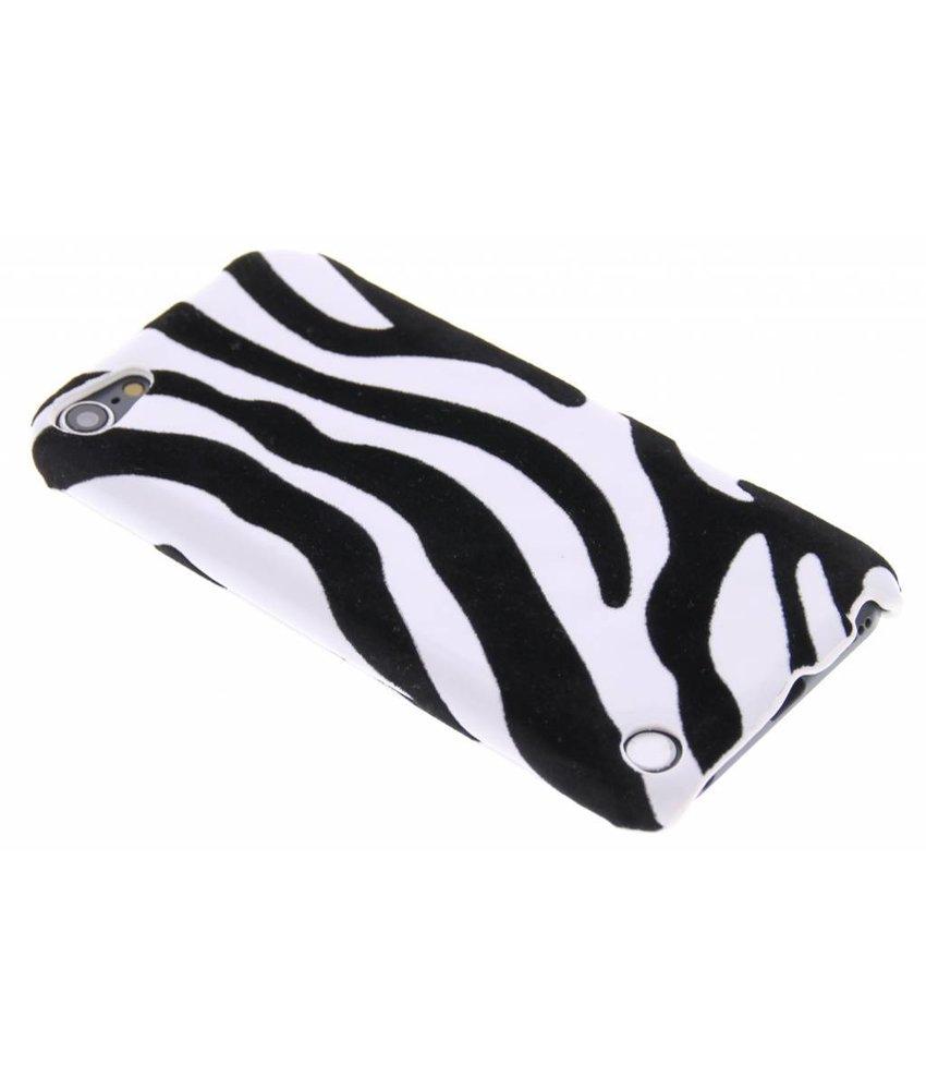 Zebra flock hardcase hoesje iPod Touch 5g / 6