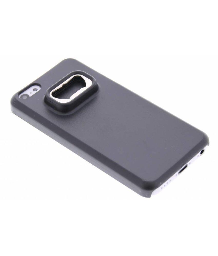 Zwart bieropener hoesje iPhone 5c