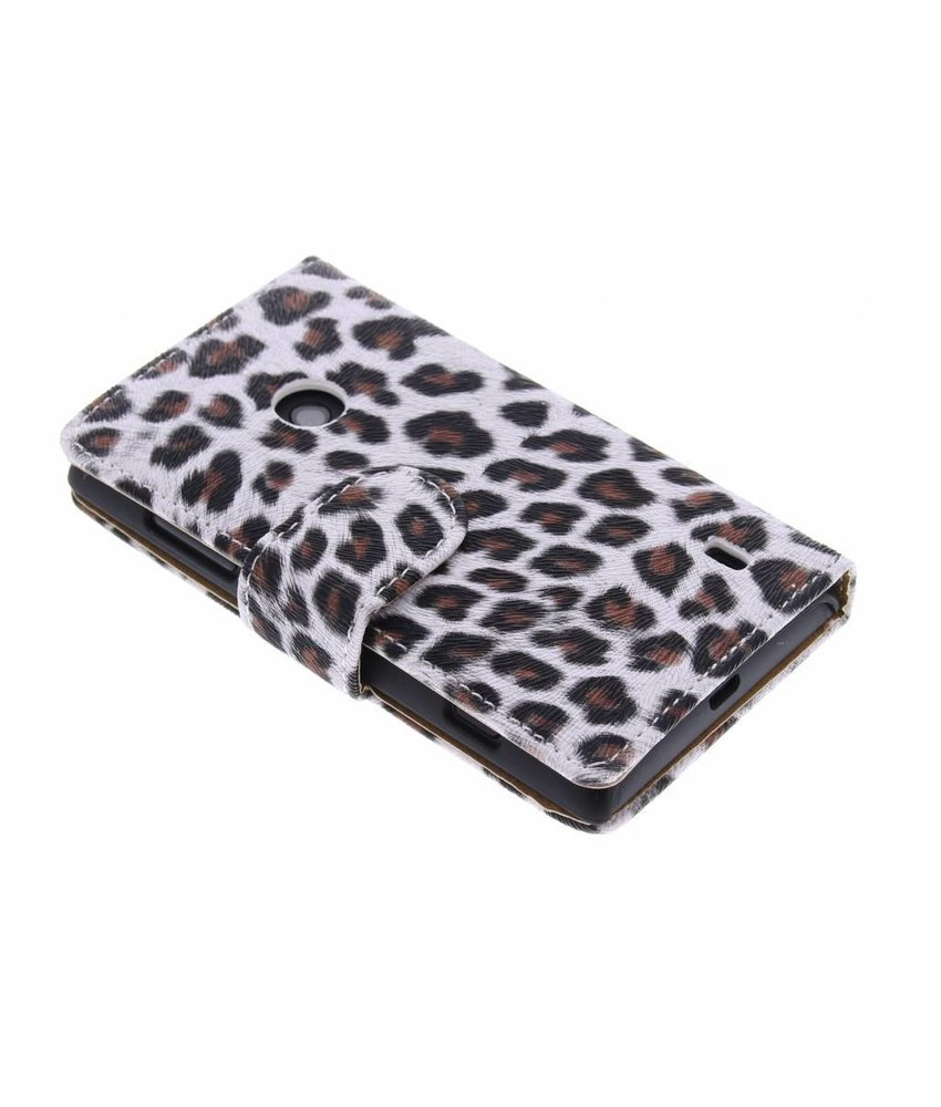 Bruin luipaard booktype hoes Nokia Lumia 520 / 525