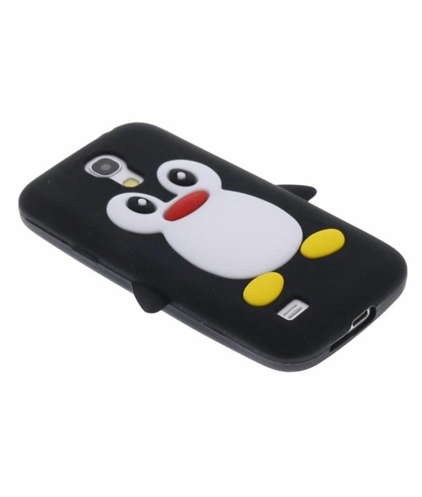 Zwart pinguin siliconen hoesje Samsung Galaxy S4 Mini